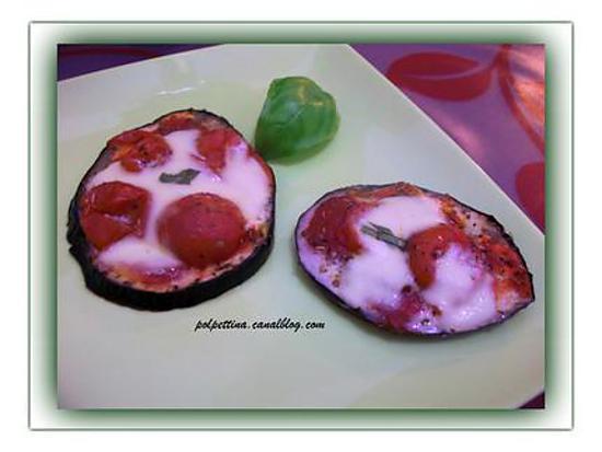 recette Rondelles d'aubergine au four et à l'italienne.