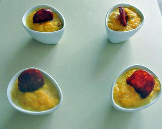 Recette de cocotte potiron chorizo - Soupe potiron cocotte minute ...