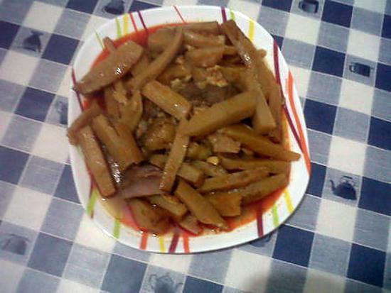recette navets en sauce rouge