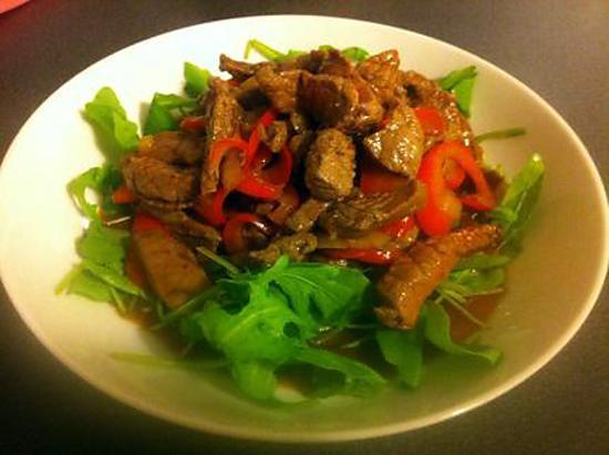 recette Wok boeuf / roquette