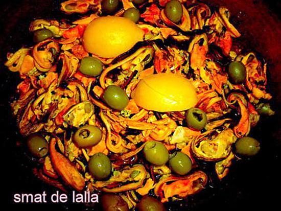 recette TAJINE DE MOULE A L'HUILE D'ARGAN