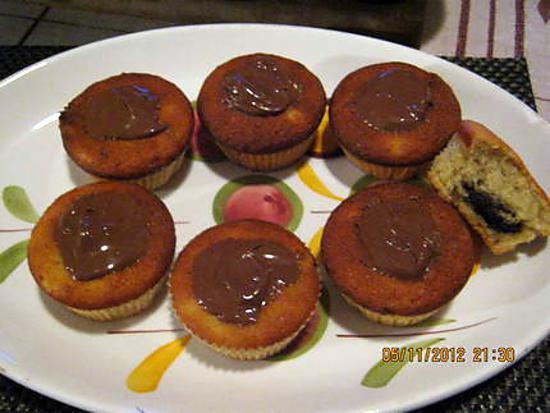 recette de muffins bananes nutella