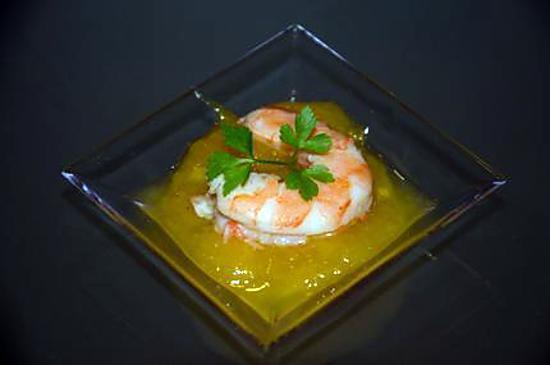 recette Crevettes au chutney de mangue