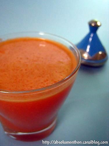 recette Jus de carottes des sultans a l'eau de fleur d'oranger