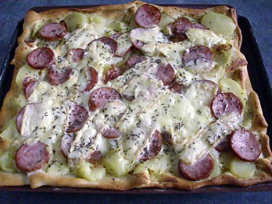 Recette de pizza au mont d or - Mont d or au four ...