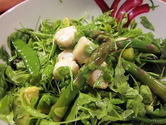 Recette de salade d asperges aux pois gourmands et aux - Cuisiner des pois gourmands ...