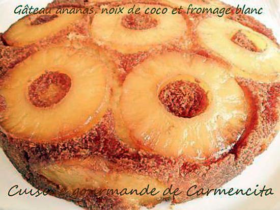 Recette de gateau noix de coco ananas