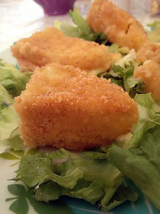recette Camembert frit en salade