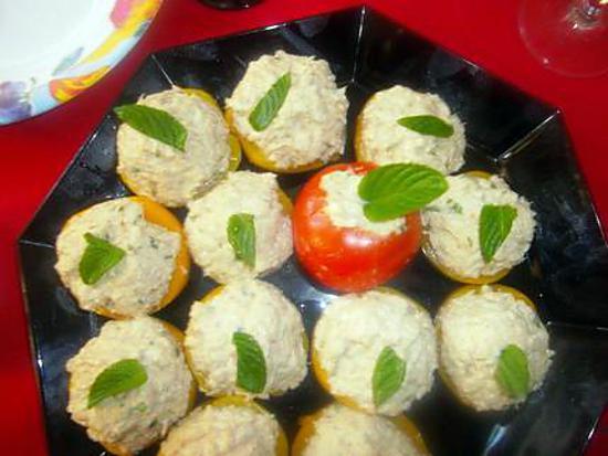Recette de p che au thon crabe mayonnaise et menthe fra che - Recette mayonnaise au mixeur ...