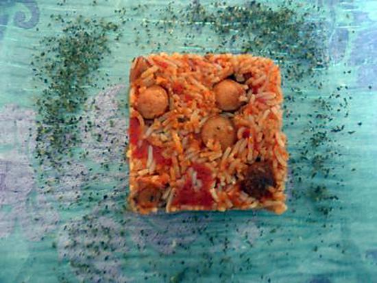 recette Saucisse riz à la tomate