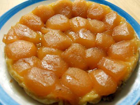 recette Tarte Tatin au caramel - beurre salé