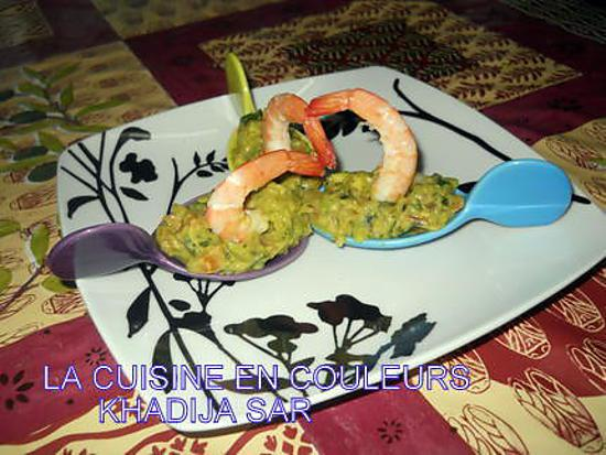 recette guacamole aux crevettes