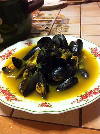 recette Moules aux curry et gingembre inspiration asiatique