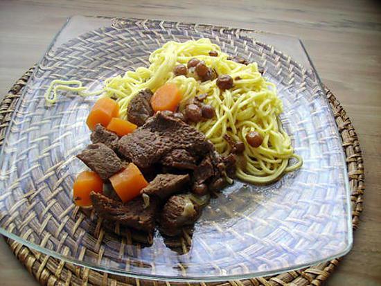 recette boeuf aux carottes et raisins secs