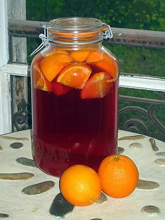 recette de vin d 39 oranges ap ritif maison. Black Bedroom Furniture Sets. Home Design Ideas