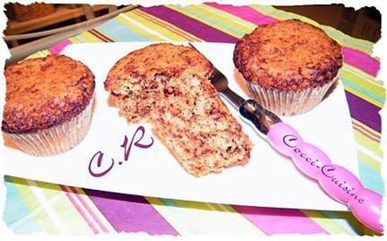 recette Muffins au chocolat praliné