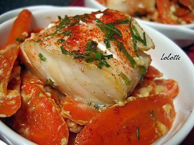recette Cabillaud à la ciboulette et aux carottes fondantes