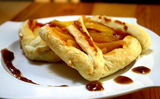recette Tarte express aux mangues sauce caramel