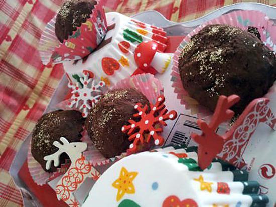 recette Truffes au chocolat parfumée au rhum