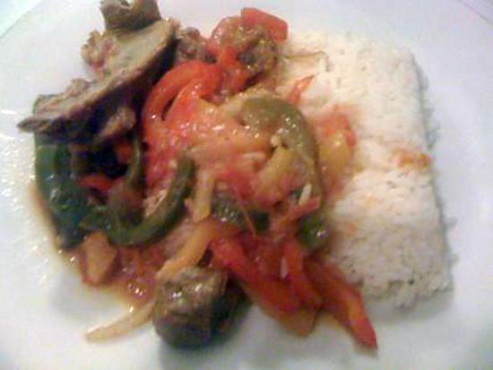recette de riz basmati au poivron au curry et viande d 39 agneau. Black Bedroom Furniture Sets. Home Design Ideas