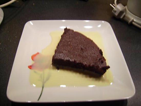 recette fondant au chocolat dans sa crème anglaise