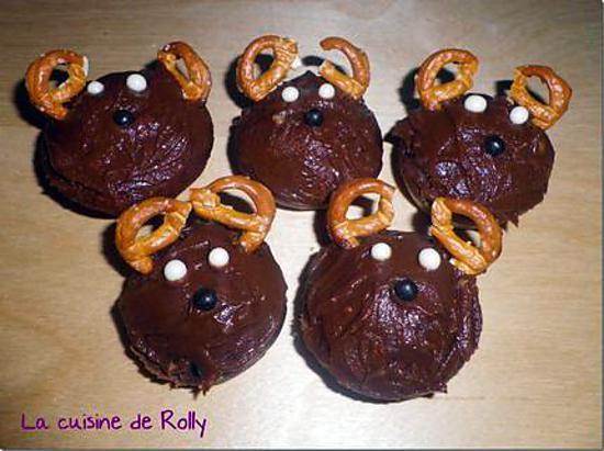 Recette de cupcakes rennes de no l - Recette de cupcake facile ...