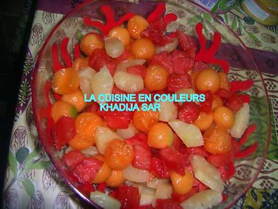 Recette de salade de fruits ananas melon past que - Salade de pasteque ...