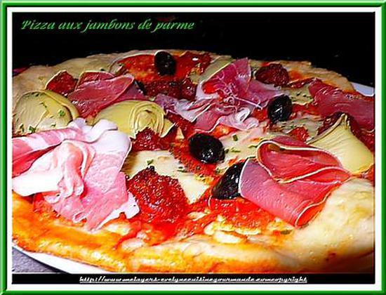 recette pizza aux jambons de parme