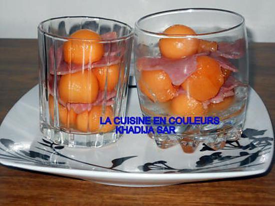Recette de verrines sucr es sal es melon jambon par khadyja - Recette verrine sucree ...
