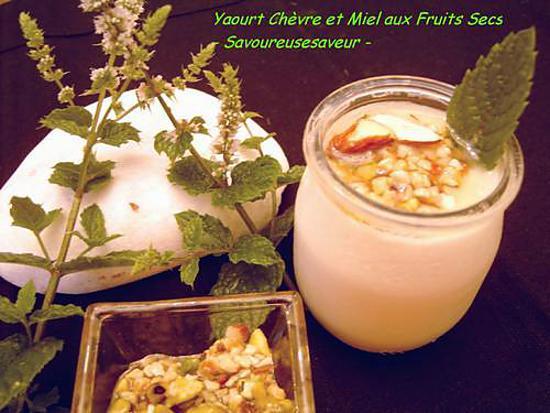 recette Yaourt de Chèvre au Miel de Fruits Secs Epicé