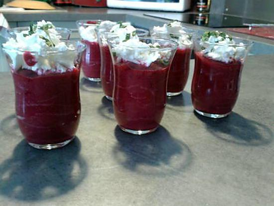 recette verrine betteraves chêvre