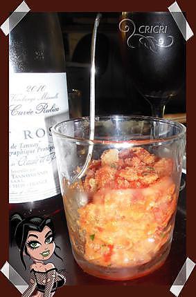 """recette Verrine """"granité de tomates"""""""