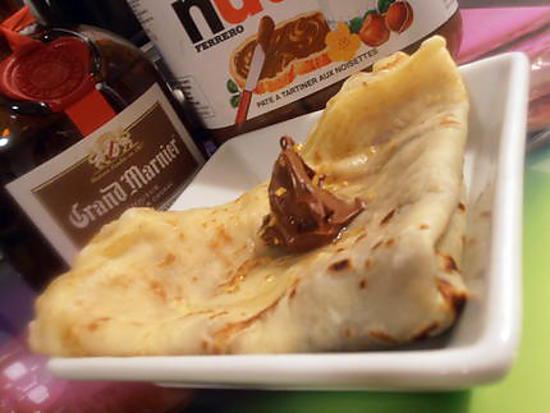 recette crèpe nutella-grand marnier