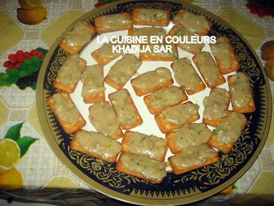 Recette de canap s sal s au fromage for Canape aperitif froid