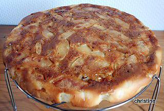 recette Gâteau pomme-coing-noix