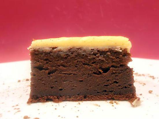 recette de g teau au chocolat et mascarpone gla age au chocolat blanc. Black Bedroom Furniture Sets. Home Design Ideas