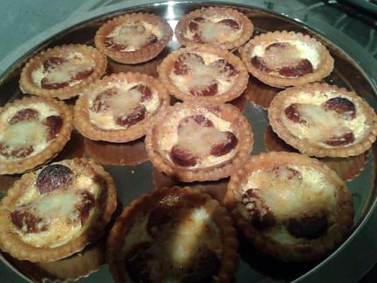 recette Tartelettes crème chorizo gruyère (apéro express noël)