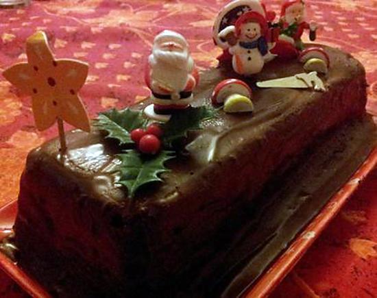 Recette de b che de noel 39 lingot 39 au chocolat et cr me de for Buche de noel chocolat marron
