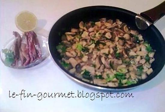 Recette de champignons de paris la mon gasque - Champignon de paris a la poele ...