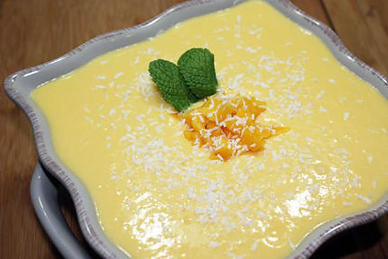 recette Crème de mangue et coco