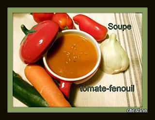 recette Soupe tomates-fenouil