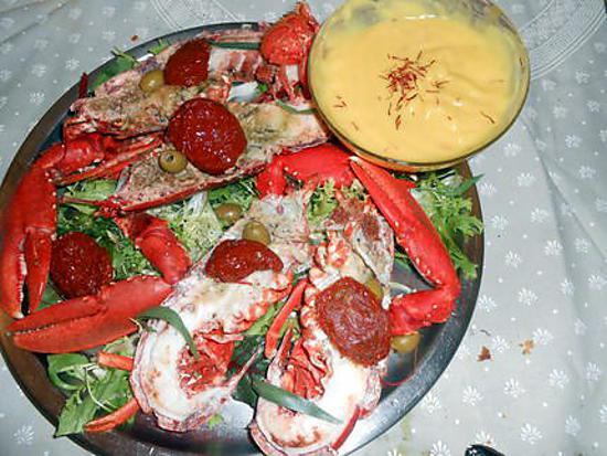 Recette de homard froid mayonnaise au safran - Recette mayonnaise au mixeur ...