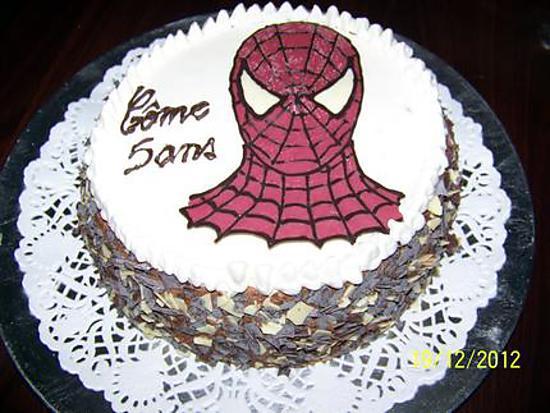 Recette de g teau d 39 anniversaire spiderman - Dessin de gateau facile ...