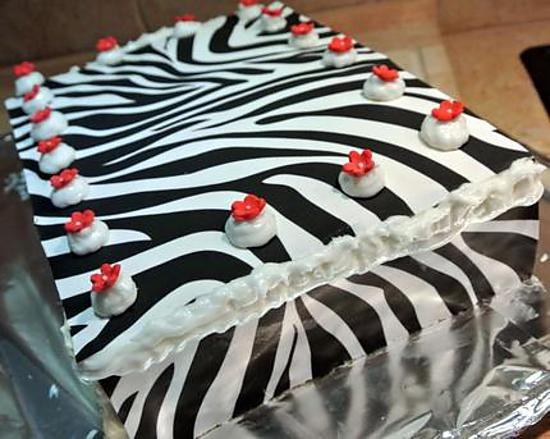 decoration gateau zebre