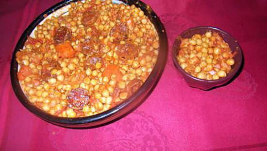 recette pois chiches a la catalane
