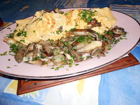Recette d'Omelette aux pleurotes par jeanmerode
