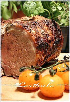 recette ~Rôti de porc aux herbes et à l'ail~