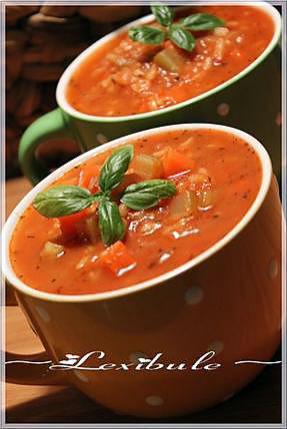 recette ~Soupe tomates et riz~