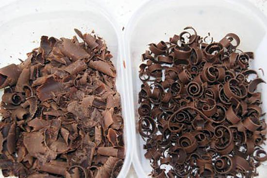 recette Deux astuces pour faire des copeaux de chocolat