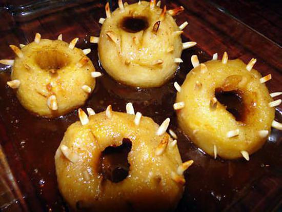 """recette Pommes """"hérisson"""""""
